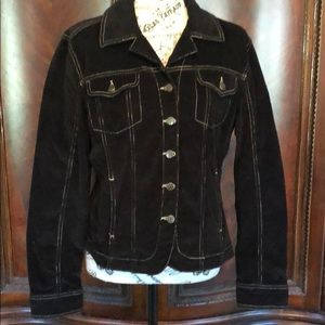 Live a little jacket size medium Corduroy stretch